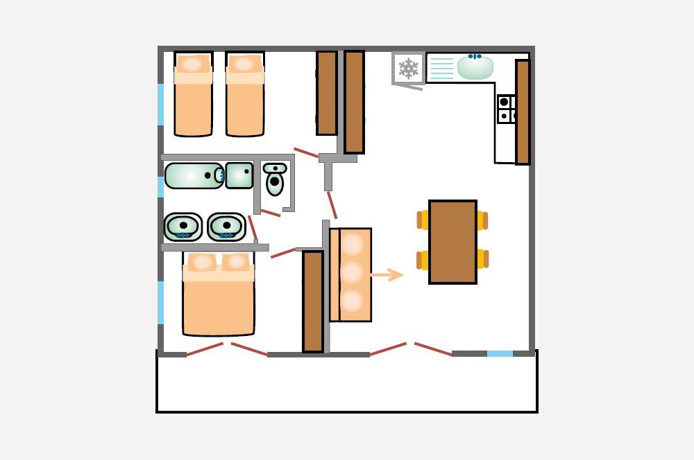 La Rabeaudière 1: piantina degli appartamenti