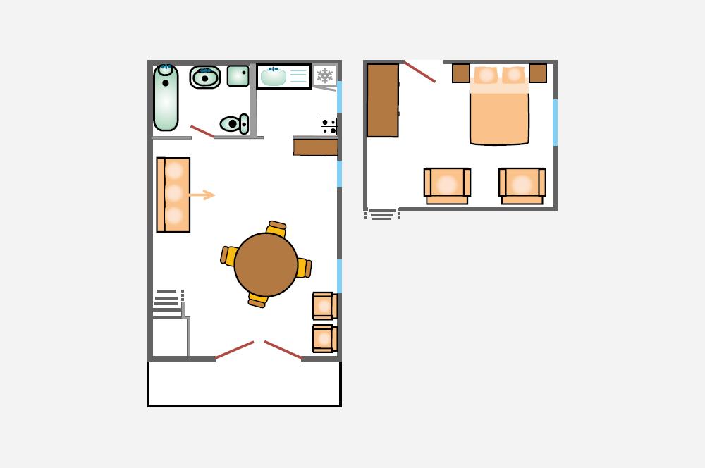 La Rabeaudière 3: piantina degli appartamenti
