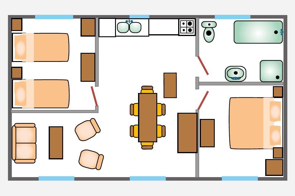 Villa du Parc: plattegrond van de appartementen