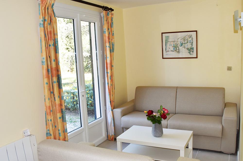 Villa du Parc: zitkamer met bedbank