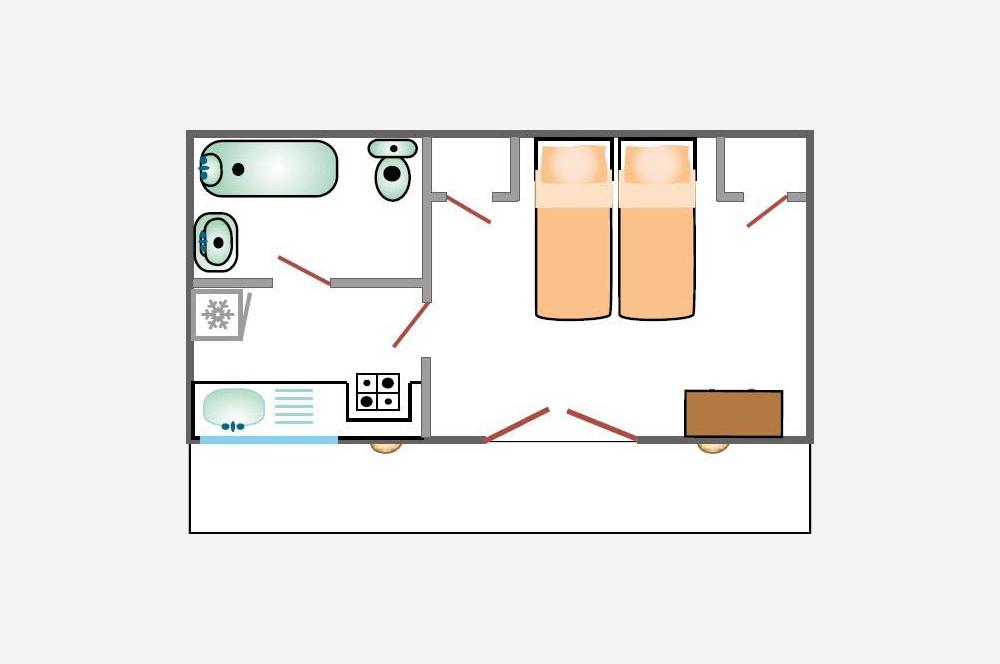 Studio d'Augias 1: piantina degli appartamenti