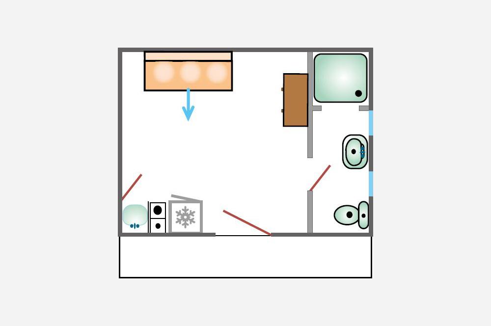 Studio d'Augias 3: piantina degli appartamenti