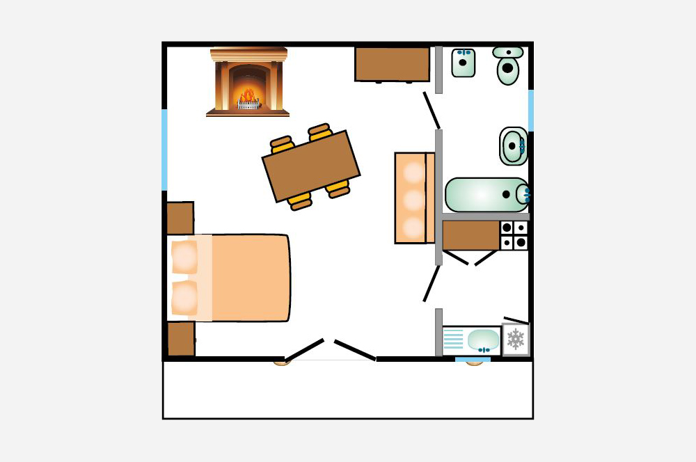 Studio du Parc: piantina degli appartamenti