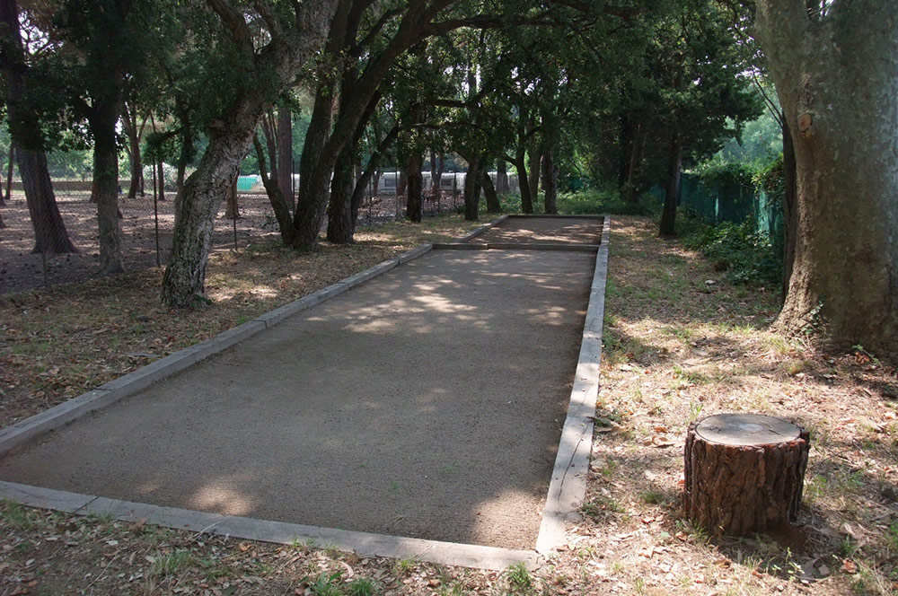 Bocce ball court
